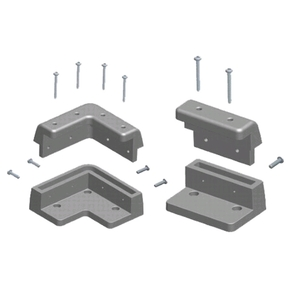 Solar Panel Mounting Kit 6 Pc. Black -Suits to 40mm