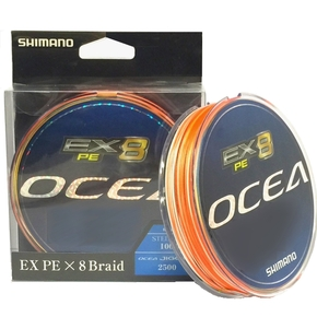 Ocea EX8 Multicolour Braid Fishing Line PE 1 / 300m (Test 20lb)