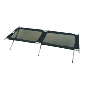 XL Mesh Cross Leg Camping Stretcher Bed with Steel Frame