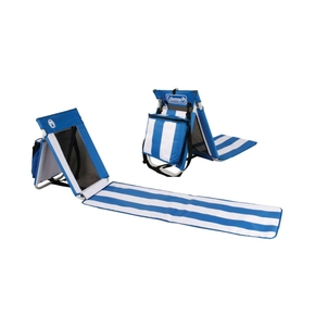 Portable Beach Mat / Seat / Lounger with Cooler Bag