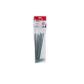 Steel Tent Pegs 225mm Long x 6.3mm wide (10 in Pack)