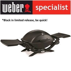 Q Premium Q2200 BBQ - Portable LPG Gas Barbecue / Grill - Black