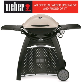 Weber Q3200 Premium (Natural Gas) Family Barbeque Grill BBQ w/Cart - Titanium