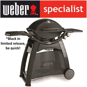Family Q Premium Q3200 LPG Gas BBQ - Grill / Barbecue with Cart - Black