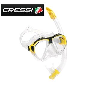Matrix Mask and Gamma Snorkel Set - Clear Silicone / Yellow