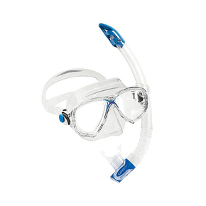 Marea Mask and Gamma Snorkel Set - Clear Silicone / Blue