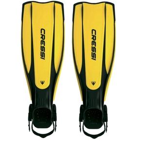 Pro Light Open Heel Dive Fins - Adult L-XL (10-12) Black / Yellow
