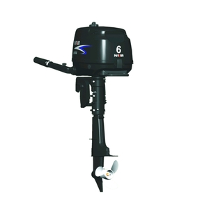 Outboard Motor 6hp Short Shaft 4 Stroke - Dual Fuel Option plus DC Output Leads
