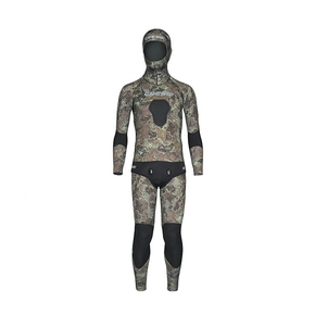 Tecnica Camo 5mm Spear Fishing Wetsuit 2 Piece - Size Large / 4