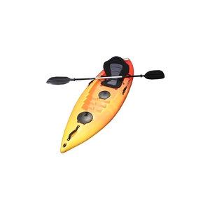 Wave 1 Person Fishing Kayak 2.60m - Hot lava w/Deluxe Seat & Paddle