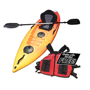 Wave 1 Person Kayak 2.60m - Hot lava w/Deluxe Seat & Paddle