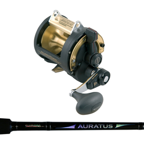 TLD30A 2 Speed Overhead Reel with Auratus 15-24Kg Rod