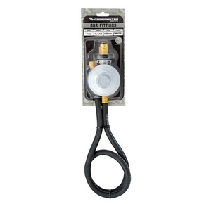 LPG Gas Cylinder Regulator with Hose -POL Fitting - 3/8BSP - 1m