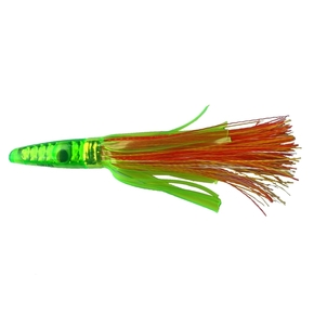 "ZG 17L Lime Head Grass Skirt Game lure 6"" - Orange/ Yellow"