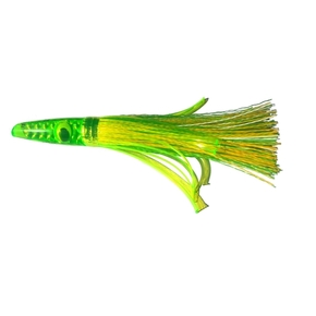 "ZG 1L Lime Head Grass Skirt Game lure 6"" - Green/ Yellow"