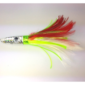 ZT FW3 Feather Trolling Game Lure- Red/ White 8''