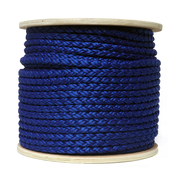 12mm 8 Strand Nylon Anchor Rope (Black Colour) - 100m Reel