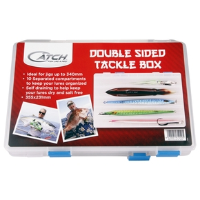 DOUBLE SIDED  TACKLE BOX 355X231MM