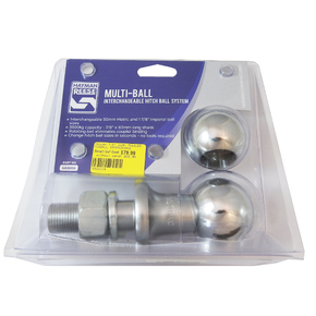 "Interchangeable Towball System 1.7/8"" and 2"" - 7/8"" (22mm shaft)"