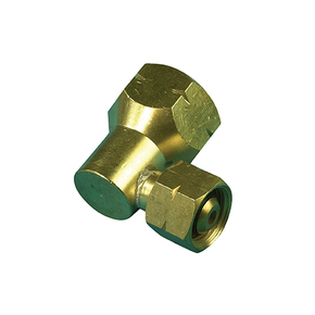 Brass POL to Companion Gas Cylinder Adaptor - Elbow