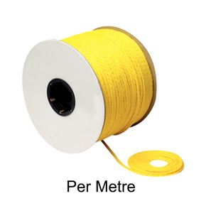 Braided 6mm Orange Polypropylene Rope- 300 Metre reel