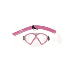 Comet Junior Silitex Kids Mask & Snorkle Set Pink
