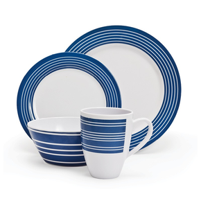 nautical Melamine Dinner Set - 16 pc