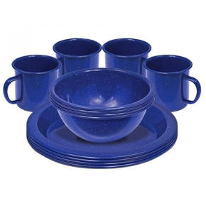 12 Piece Enamel Dinner Set