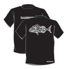 Lure'd Snapper Tee - Black - X Large