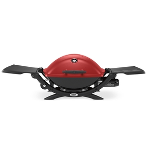 Q Premium Q2200 BBQ - Portable LPG Gas Barbecue / Grill - Red