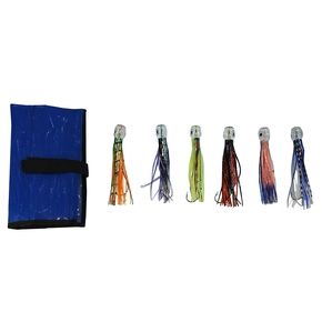 Rigged Game Fishing Lures with Bag- 6 Pack