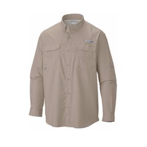 Men's Blood 'n' Guts Lightweight Longsleeve Fishing Shirt - Fossil / 2XL