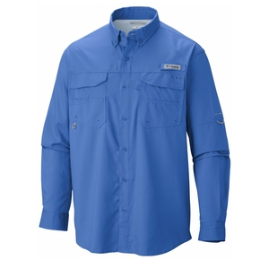 Men's Blood 'n' Guts Lightweight Longsleeve Fishing Shirt - Vivid Blue / Medium