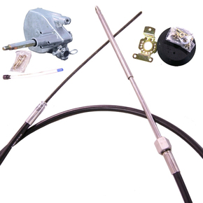 Cable Steering Set Complete (No Wheel) 3.65m (12ft)