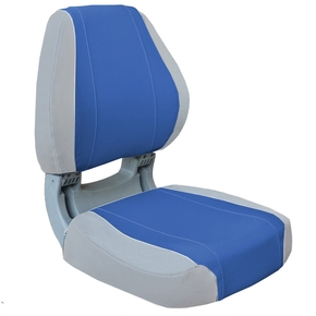 Sirocco Deluxe Folding Seat - Grey/Blue