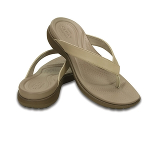 Capri V Womens Shoe - Jandal ~ Chai/Walnut