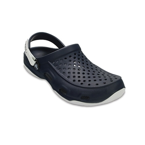 Swiftwater Mens Deck Clog ~ Navy/White Size US 12