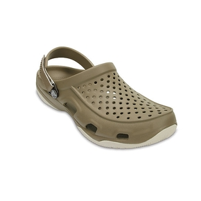 Swiftwater Mens Deck Clog ~ Khaki/Stucco