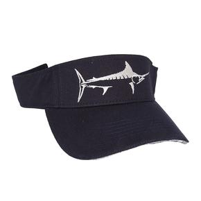 Marlin Silhouette Navy Visor Cap