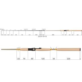 "Pro Series Softbait Spin Rod 7'3"" 3-8kg 2pce"