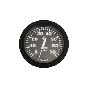 75mm Domed Tachometer-7000 RPM (petrol) Black Face