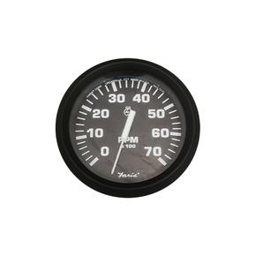 75mm Domed Fog Free Tachometer-7000 RPM (petrol) Black Face
