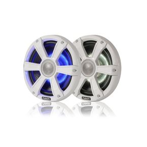 "7.7"" 280 WATT Coaxial Sports White Marine Speaker with LED's"