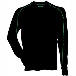 Mens Polyester Ridgeline Thermal L/S Tee Black - Medium