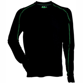 Mens Polyester Ridgeline Thermal L/S Tee Black - Small
