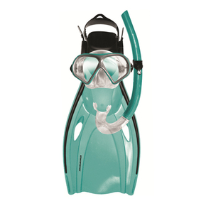 Mission Mask Snorkel Fins Teal Adult ML-XL 9-13