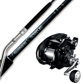 Combo Forcemaster 9000 Reel / Status 5'6 Bent Butt Game Rod with Braid