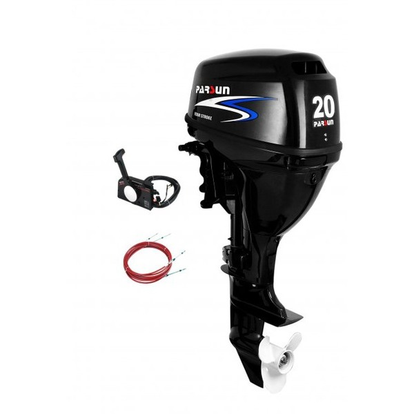 Outboard 20hp Short Shaft - 4 Stroke - Electric w/Remote Control (New)