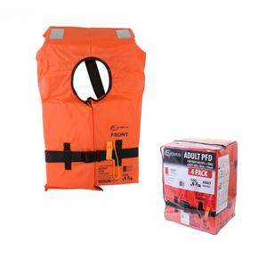 4-Pk Coastguard Type Lifejacket Adult 40kg+ w/Reflectors
