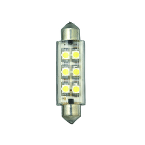 12v 6 LED Warm White Festoon Bulb - 12x42mm